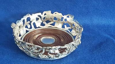 """Stunning Heavy Rare Antique 1855 Russian 875 """"Sterling"""" Silver Wine Coaster 303g"""