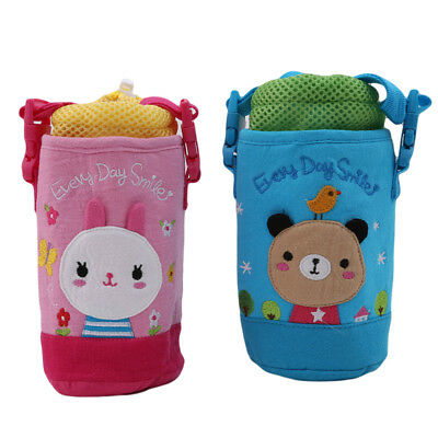 Baby Milk Bottle Nursing Feeding Water Cup Pouch With Strap Cotton Cover 8C