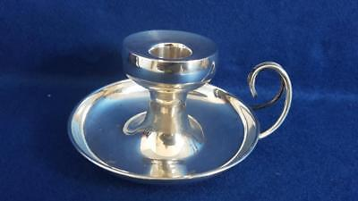 Delightful Antique H/M 1911 Sterling Silver Light-Me-To-Bed Candle Holder 90g