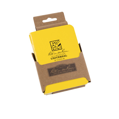 Rite in the Rain 371FX-M All-Weather Universal Mini Stapled Notebook, 3-Pack