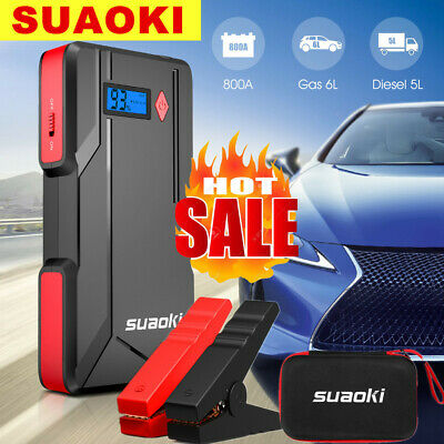 Suaoki 800A Peak Car Starthilfe Jump Starter Power Bank 20000mAh Booster Battery