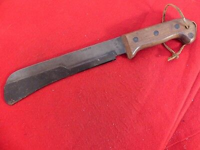 Case XX  WWII 1940's era excellent + full tang blued steel bolo knife & guard