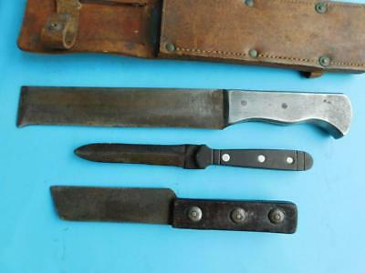3 Bespoke Trench Art WW2 Military Knife Knives