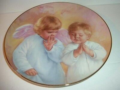 Artaffects Heavenly Angels Heavenly Helper Plate 1991 Vintage