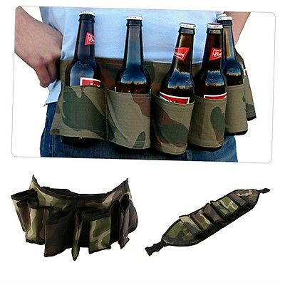 Party Beer & Soda Drink Can Belt 6 Pack Holster - Great For Beer Lovers 0P
