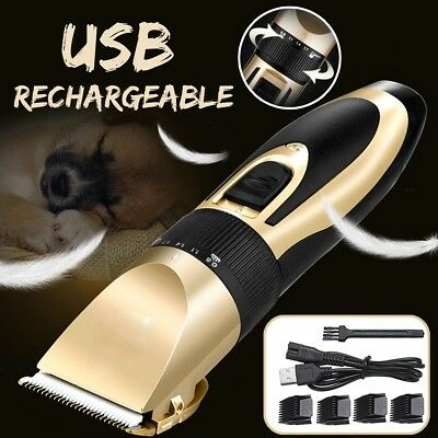 Dog Electric Hair Clippers Cordless Pet Trimmer Cat Animal Shaver Comb Grooming