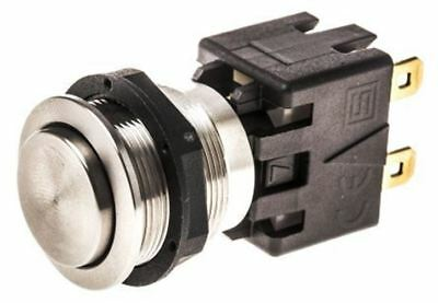 Double Pole Single Throw (DPST) Latching Push Button Switch, IP64, 19 mm, Panel