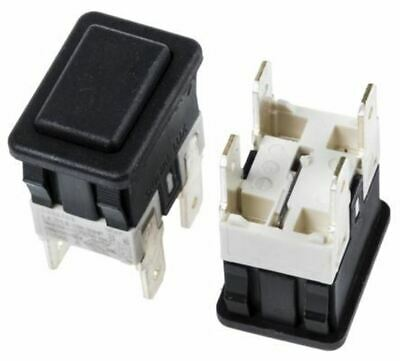 Double Pole Single Throw (DPST) Latching Push Button Switch, 19 x 13mm, Panel Mo
