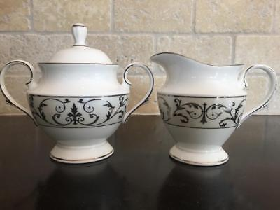 Lenox Autumn Legacy China Platinum SUGAR BOWL & CREAMER ~ More Pieces Available