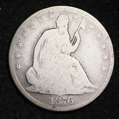 1876-CC Seated Liberty Half Dollar CHOICE G FREE SHIPPING E251 GLT