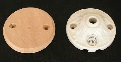 ANTIQUE MOUNT'BRACKET OR CEILING LIGHT PORCELAIN WHITE / EARLY 20th