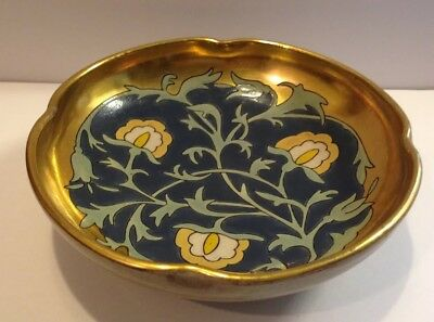 """American Decorated Satsuma Blank Scalloped Round Bowl 2""""by 6-1/4"""""""