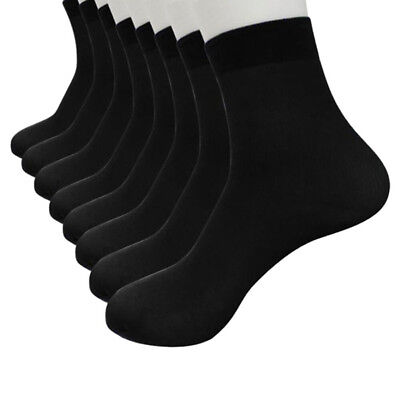 20 Pairs Ultra-thin Bamboo Fiber  Elastic Silky Short Silk Stockings Men's Socks