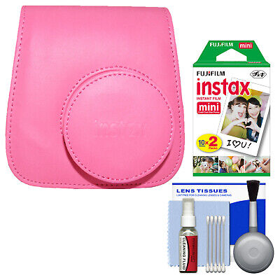 Fujifilm Groovy Camera Case for Instax Mini 9 Flamingo Pink +20 Color Prints Kit