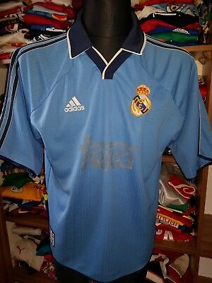 REAL MADRID 1999/2000 THIRD SHIRT SIZE M/L CAMISETA MAGLIA TRIKOT (h827)