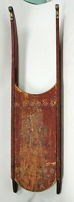 Antique Paris, Maine Painted Red & Gold Wooden Child's Sled