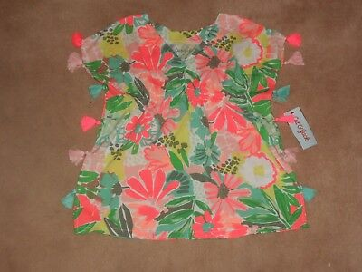 New, Toddler Girls Swimsuit Cover Up, Cat & Jack, Size 4T