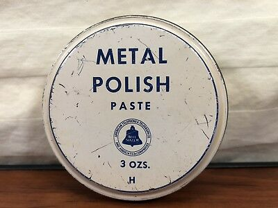 Vintage Bell American Telephone & Telegraph Co. Advertising Metal Polish Tin Can