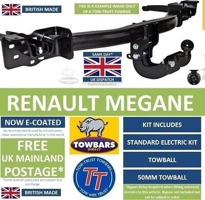 electric kit Renault Megane hatchback 5-door 1999//2002 Fixed towbar swan neck