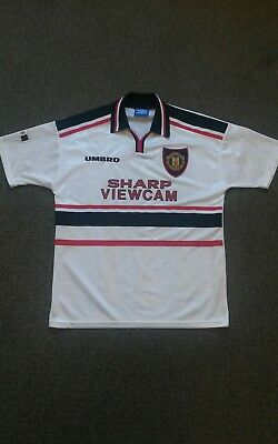 Official 1997-1999 Manchester United FC Away Shirt - Large