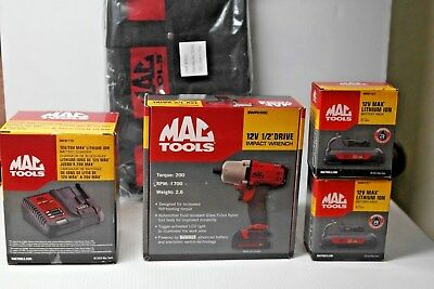 MAC TOOLS BWP050 12V MAX 1/2 In  2 Battery Impact Driver Battery and Charger