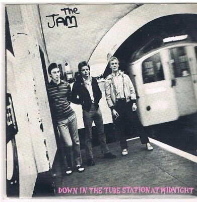 """7"""" - The JAM - DOWN IN THE TUBE STATION AT MIDNIGHT - UK PS"""