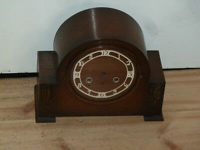 1930's empty clock case with wooden bezel - for spares