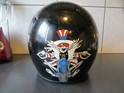 VINTAGE BELL STAR LTD motorcycle HELMET 1970's Grateful Dead Image On Back