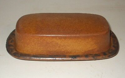 """Vintage  McCoy Canyon Mesa #7013 Covered Butter Dish 7.5"""" NICE"""