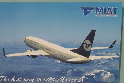 AK Airliner Postcard MIAT B.737 airline issue