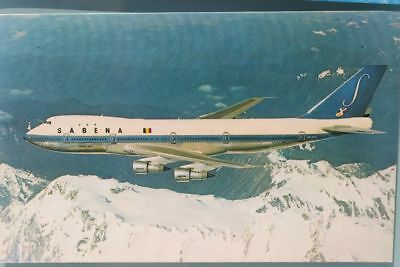 AK Airliner Postcard SABENA   B.747 airline issue