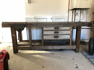 Vintage Antique Workbench  - 1900 or earlier. Retro up cycle sideboard