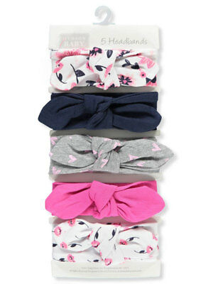 Hudson Baby Girls' 5-Piece Headband Set