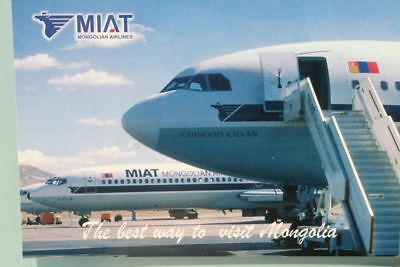 AK Airliner Postcard MIAT  airline issue