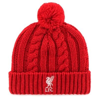 NEW LIVERPOOL FOOTBALL CLUB BOBBLE HAT ANFIELD LIVERBIRD lfc THE KOP THE REDS