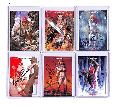 2018 Red Sonja 45th Anniversary Complete 6-Card Autograph Signature Cards Set 6!