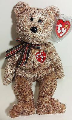 """TY Beanie Babies """"2002 SIGNATURE BEAR"""" Teddy - MWMTs! RETIRED! PERFECT GIFT! NEW"""