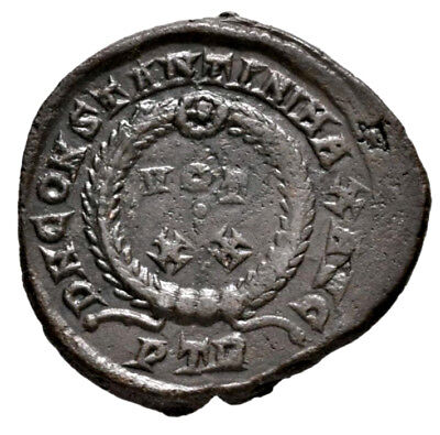 CONSTANTINE THE GREAT (321 AD) Rare Barbaric Follis, Trier #RB 696