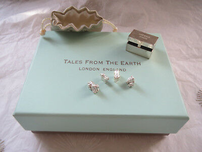 Tales From The Earth miniature sterling silver zoo keepsakes box & four animals