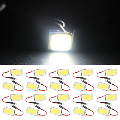 10x COB 21 SMD LED T10 BA9S Girlande Auto Innen Lesen Dome Trunk Cargo Lights