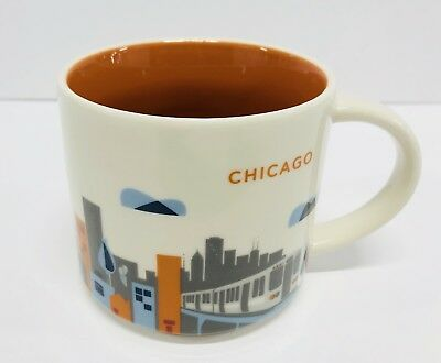 Starbucks Coffee CHICAGO 14oz Mug Cup 2015 You Are Here Collectors Series