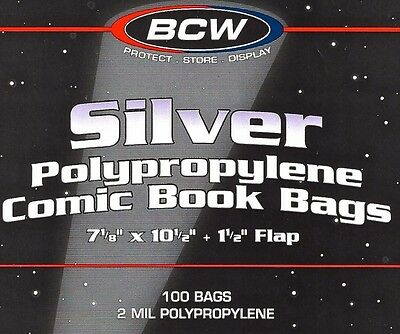 200 Silver Bags and Boards Archival Comic Book Storage Supplies