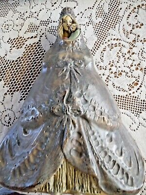 Vintage Alfons Noseda Flemish Pottery Our Lady Spanish Madonna Mary With Child B