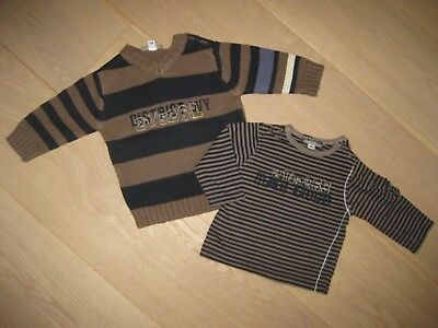 MAIL CODE superbe pull coton + t-shirt 6 mois 68