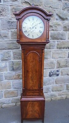 Antique Scottish Mahogany Longcase Clock John Black Aberdeen