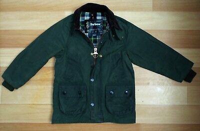 BARBOUR A110 Bedale Waxed Jacket Green M