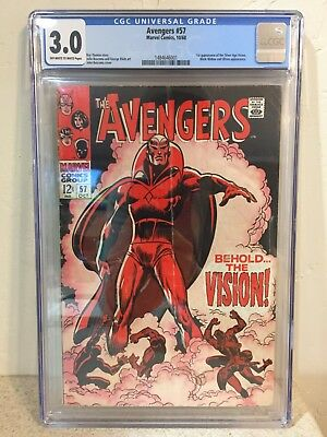 Avengers - 1st Series #57 1968 1st Appearance of Silver Age Vision CGC 3.0