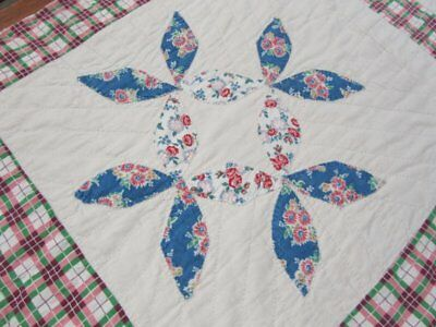 Farmhouse Feedsack c 1930s Honeybee VINTAGE Quilt Printed old bags!