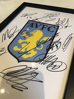 Aston Villa FC Signed 2018/2019 Full Squad!Genuine with proof! More available!