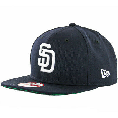 new style 2142c a96f9 New Era 9Fifty San Diego Padres Snapback Hat (Navy White) Men s Custom Wool